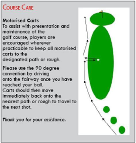 golf cart  degree rule pbe
