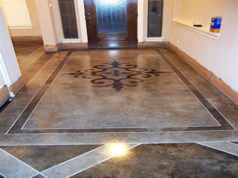 Cement patio designs, stained concrete floor designs