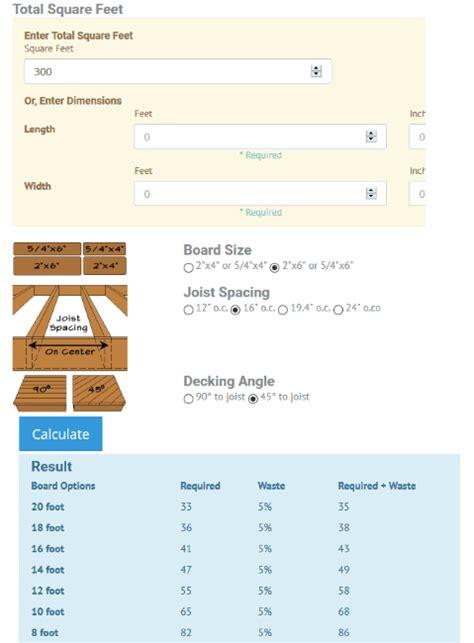 4 Online Deck Board Calculator Free Websites