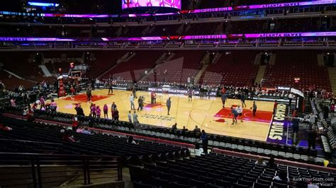 section 122 united center chicago bulls united center section 110 rateyourseats com