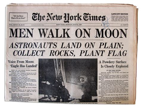 Baremiinerals In The New York Times by Lot Detail Neil Armstrong Signed 21 July 1969 New York