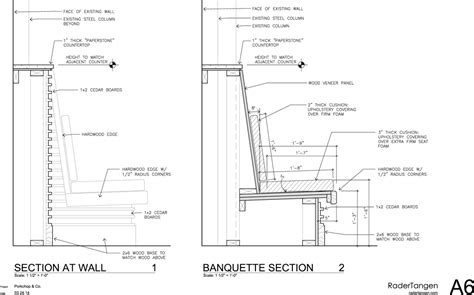 banquette design plans banquette seating details buscar con google