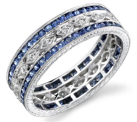 exquisitely designed sapphire wedding jewelry   big