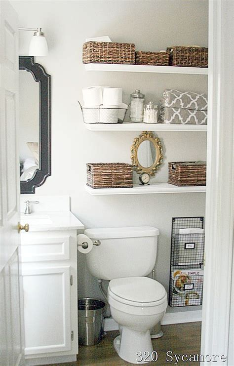 Bathroom Shelving Ideas by 11 Fantastic Small Bathroom Organizing Ideas A Cultivated