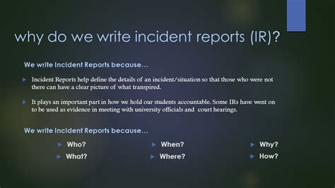 Incident Report Writing Powerpoint by Report Writing Tips Simple Joint Venture Agreement P L Template