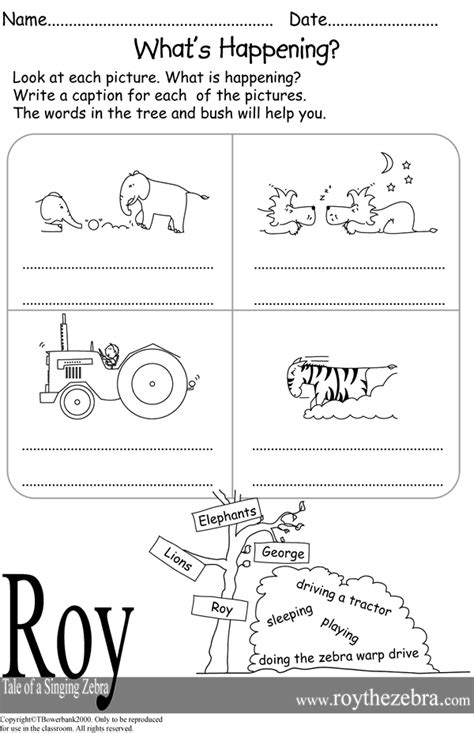 Picture Writing Worksheet