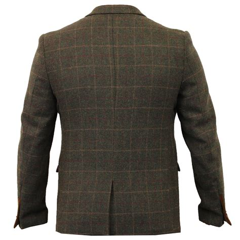 design jacket formal mens blazer marc darcy coat checked tweed dinner suit