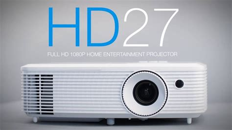 Optoma Hd27 hd27 home projector for lights on viewing