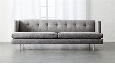 cb2 avec sofa avec tufted grey sofa cb2