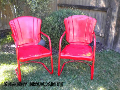 vintage aluminum outdoor chairs shabby brocante vintage metal lawn chairs