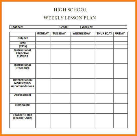 6 weekly lesson plan template word newborneatingchart