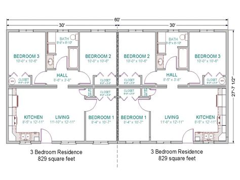 Duplex Layout | 3 bedroom duplex floor plans simple 3 bedroom house plans
