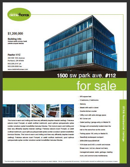 Real Estate Flyers Don T Have To Be Ugly Commercial Real Estate Marketing Template For Debbie Commercial Real Estate Marketing Templates