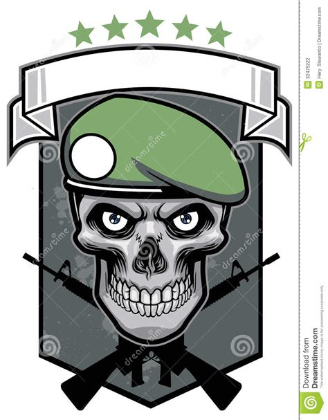 military skull stock photography image 32475222