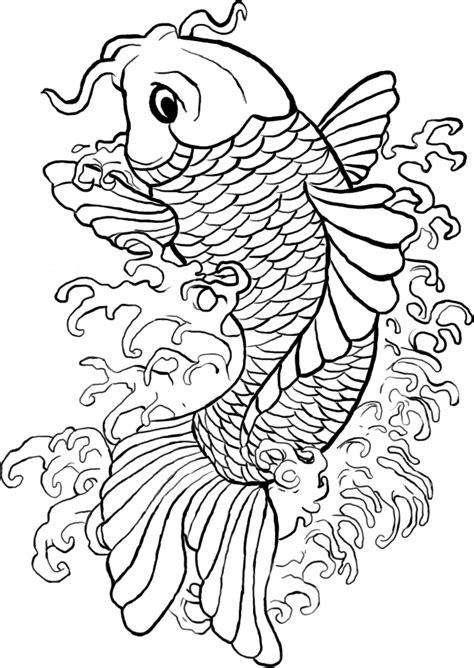 koi line art by samshootsfilm on deviantart