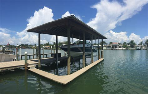 how to build a boat dock roof docks roofs gulfside docks