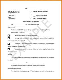 divorce decree template 5 divorce decree sle california day care receipts