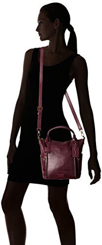 Fossil Emerson Maroon Medium fossil emerson medium satchel bag maroon one size buy