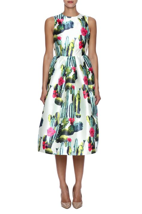 Cactus Dress blaque label cactus print dress from by the hen