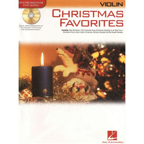 christmas favorites 15 holiday songs violin with cd shar