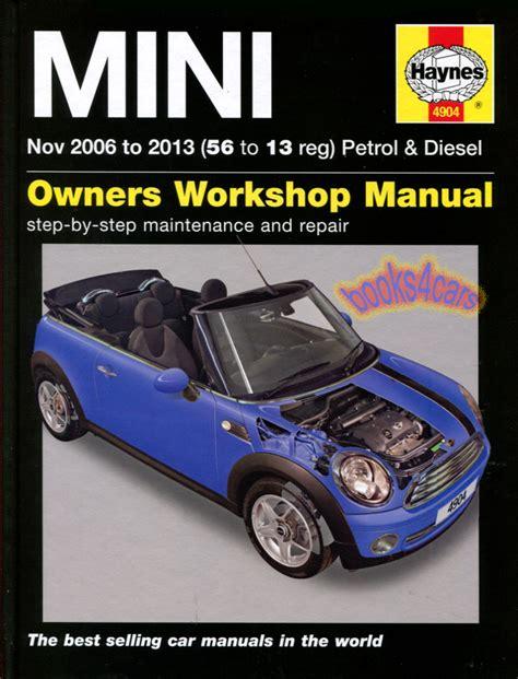service repair manual free download 2006 mini cooper electronic toll collection shop manual mini cooper service repair book haynes chilton ebay
