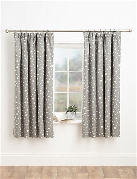 star print curtains star print pencil pleat curtains m s