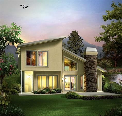 earth contact home designs earth sheltered berm home plan 57264ha 1st floor