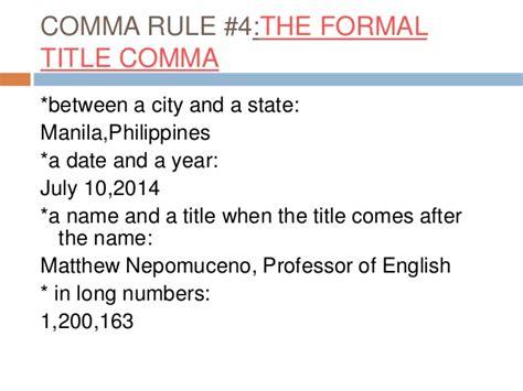 comma use punctuation comma