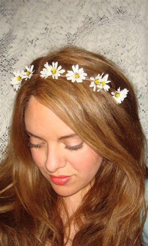 Flower Hairband flower headband flower crown headband wildflower halo
