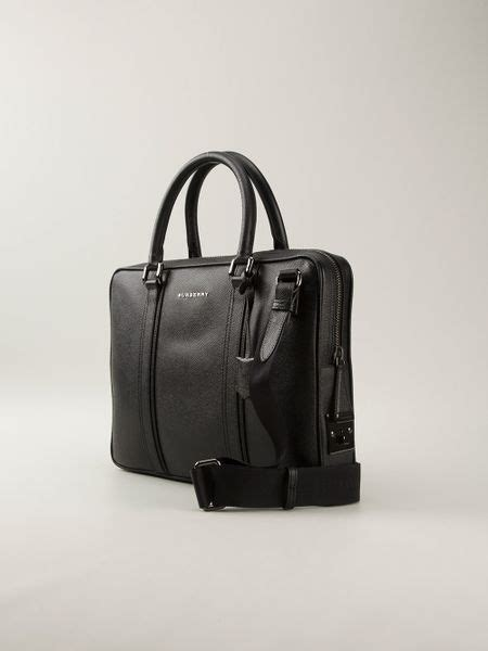 burberry grainy briefcase  black  men lyst
