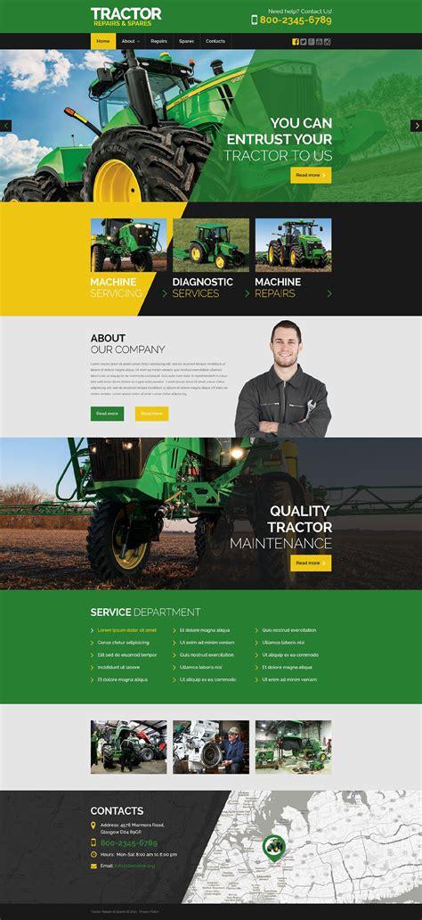 Heavy Equipment Website Template Tractor Maintenance Website Template 53043