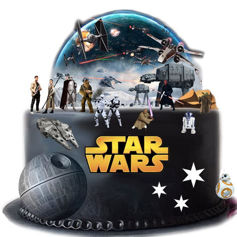 Wars Edible Cake Decorations by Wars Edible Wafer Card Cake Topper