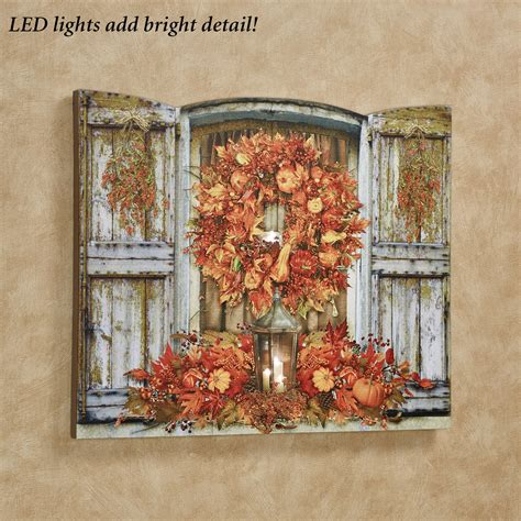 lighted canvas country rustic winter led lighted canvas wall