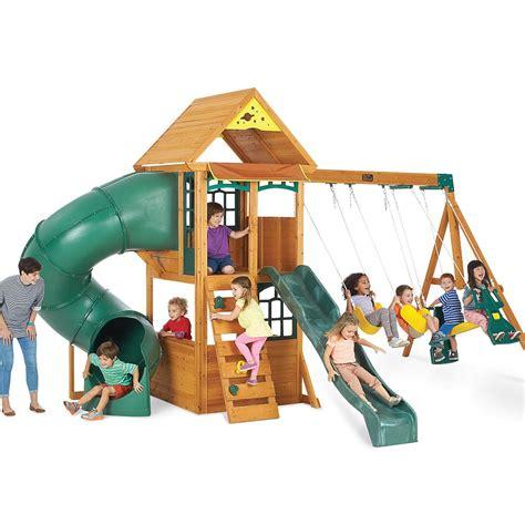 swing sets for big kids big backyard montrose premium collection wood swing set