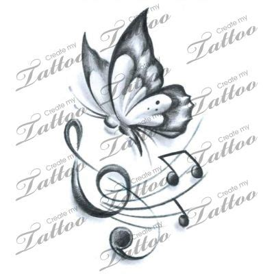 butterfly music note tattoo designs 25 best ideas about realistic butterfly on