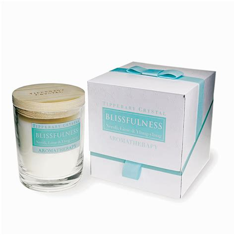 Tipperary Crystal Chandeliers Aromatherapy Candle Blissfulness Neroli Lime Amp Ylang