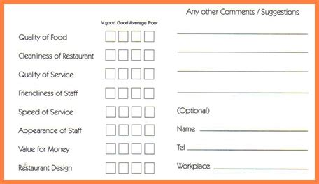 Hotel Comment Card Template Pdf by Comment Card Template Carisoprodolpharm
