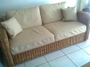 rattan sofa gebraucht rattansofa 2 sitzer 556933