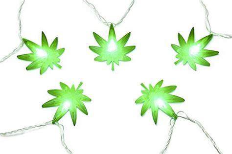 marijuana leaf string led lights stoner toolbox