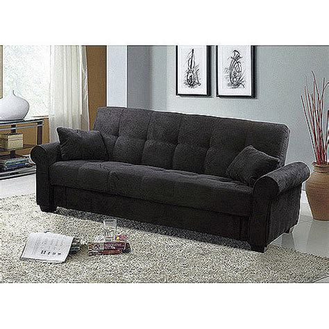 convertible sofas with storage meridian microfiber convertible sofa with storage black