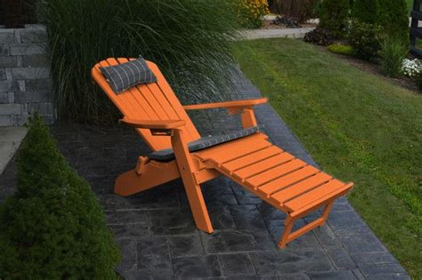 plastic adirondack chairs with ottoman a l furniture co folding reclining recycled plastic