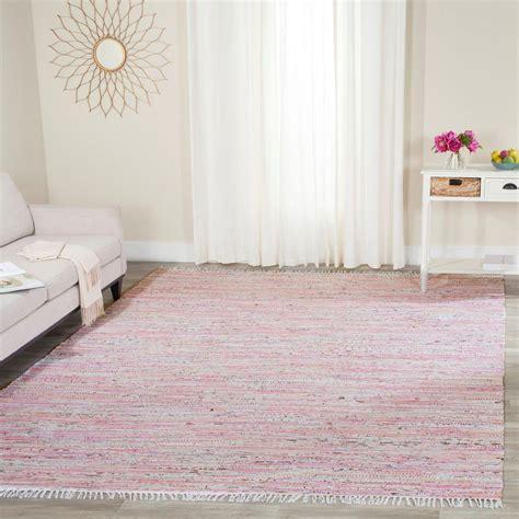 rag area rug safavieh rag rug light pink multi 8 ft x 10 ft area rug