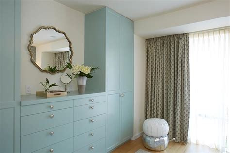 Built In Bedroom Dresser by Blue Built In Dresser And Blue Wardrobe Cabinets