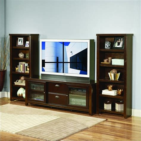 Kathy Ireland Home By Martin Furniture Loft Bookcase Entertainment Centers With Bookshelves