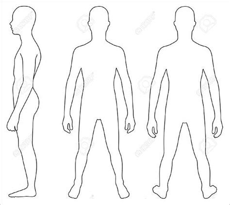 Human Body Outline Printable Diagrams For All Human Template
