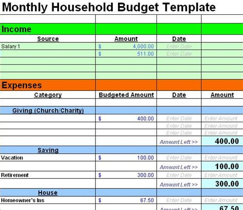 excel home budget templates best 25 home budget template ideas on family