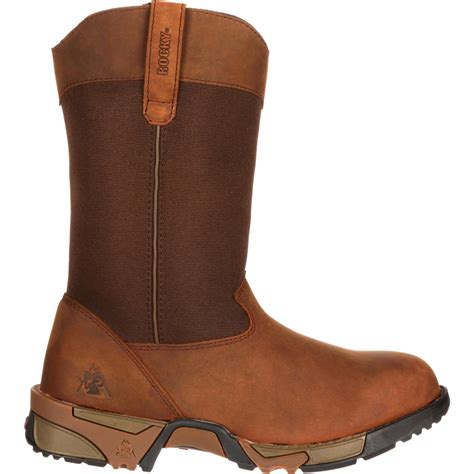 rocky s aztec brown pull on work boots rkk0135