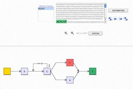 regex pattern matching algorithm helix bioinformatics