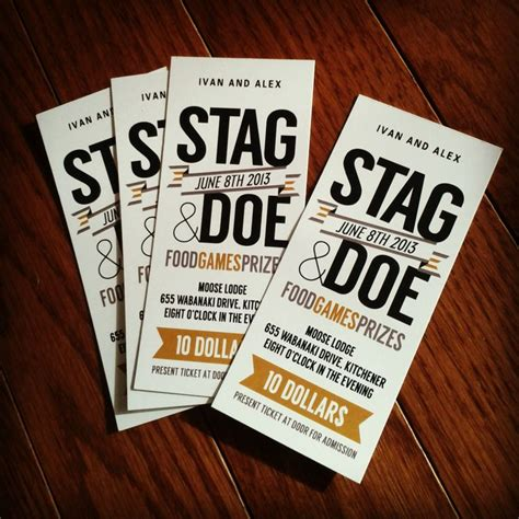 stag and doe ticket templates pin by jess smith on wedding an excuse for a year of