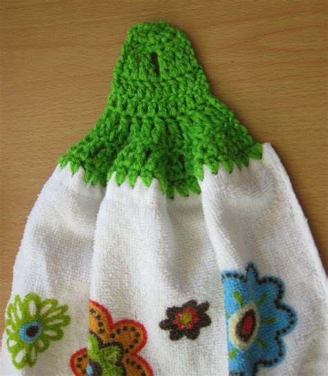 Crochet Pattern Kitchen Towel Topper | crochet and other stuff free pattern and stitch tutorial